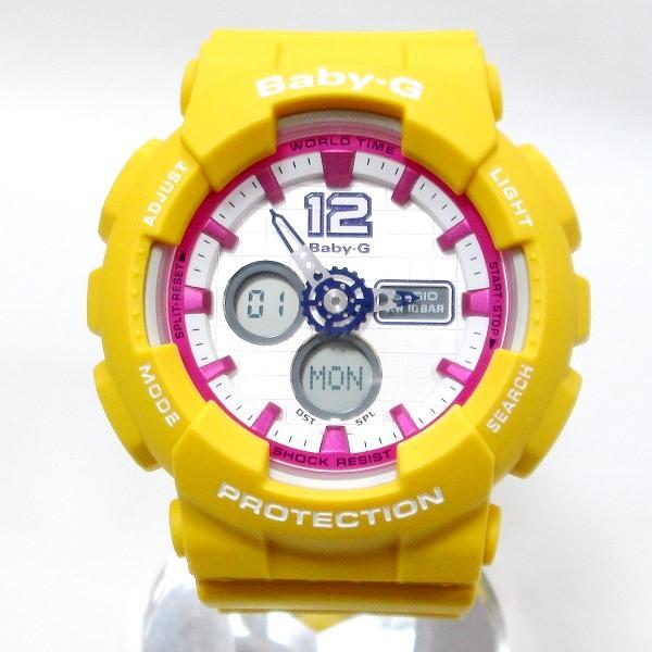 時計 カシオ Baby-G BGA-120-9B レディース クォーツ イエロー ★送料無料★【中古】【あす楽】