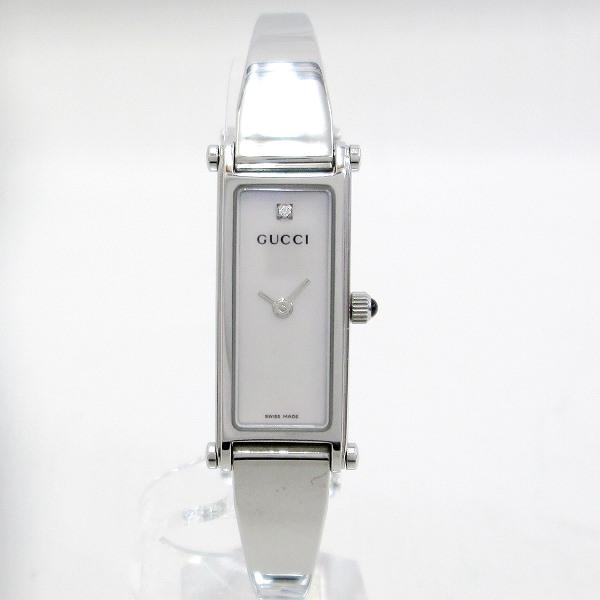 時計 グッチ GUCCI 1500L 1P クオーツ シェルホワイト ★送料無料★【中古】【あす楽】