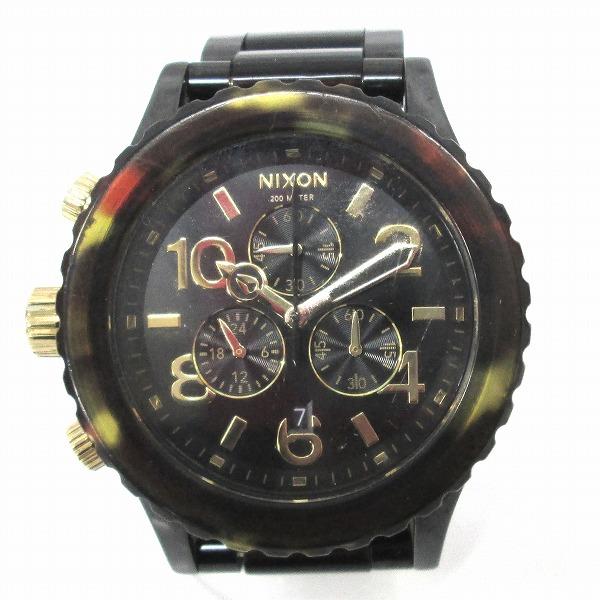 時計 ニクソン MINIMIZE THE 42-20 クロノグラフ メンズ クォーツ べっこう ★送料無料★【中古】【あす楽】