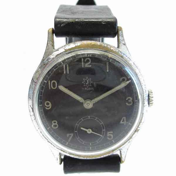 時計 ユンハンス boden edelstahl OSTFRONT 1942 ビンテージ 稼働中 ★送料無料★【中古】【あす楽】