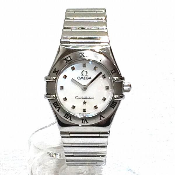 時計 オメガ コンステレーションミニ クォーツ レディース時計 ★送料無料★【中古】【あす楽】