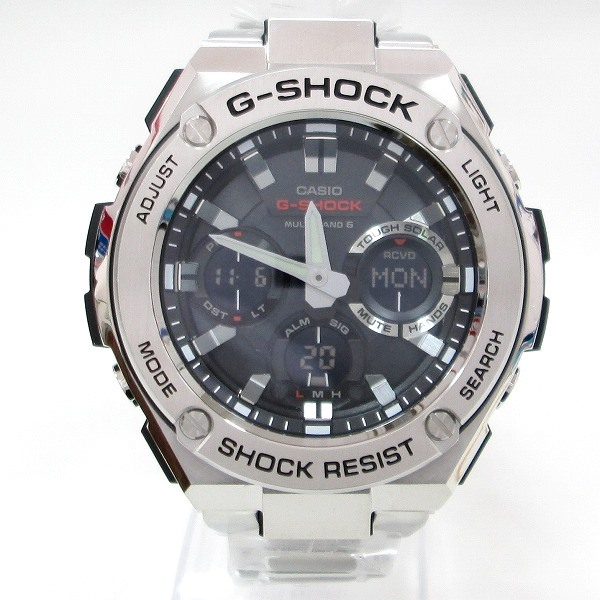時計 カシオ G-SHOCK GST-W110D-1AJF メンズ 電波ソーラー 黒文字盤 ★送料無料★【中古】【あす楽】