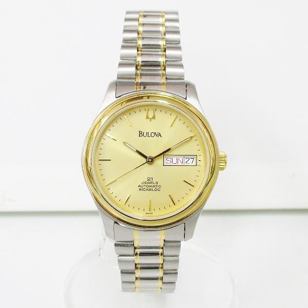 時計 BULOVA ブローバ デイデイト 21JEWELS INCABLOC 自動巻き メンズ 時計 ★送料無料★【中古】【あす楽】