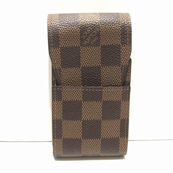 ルイヴィトン Louis Vuitton N63024 ダミエ エテュイシガレット シガレットケース イニシャル入り 小物 ★送料無料★【中古】【あす楽】