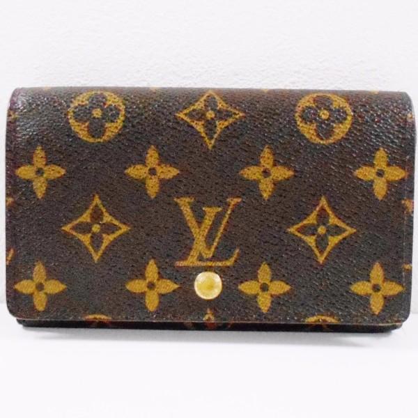 ルイヴィトン Louis Vuitton モノグラム 二つ折り財布 ポルトモネビエトレゾール M61730 ★送料無料★【中古】【あす楽】