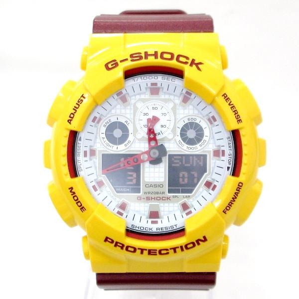 時計 カシオ G-SHOCK GA-100CS メンズ クオーツ ホワイト文字盤 ★送料無料★【中古】【あす楽】