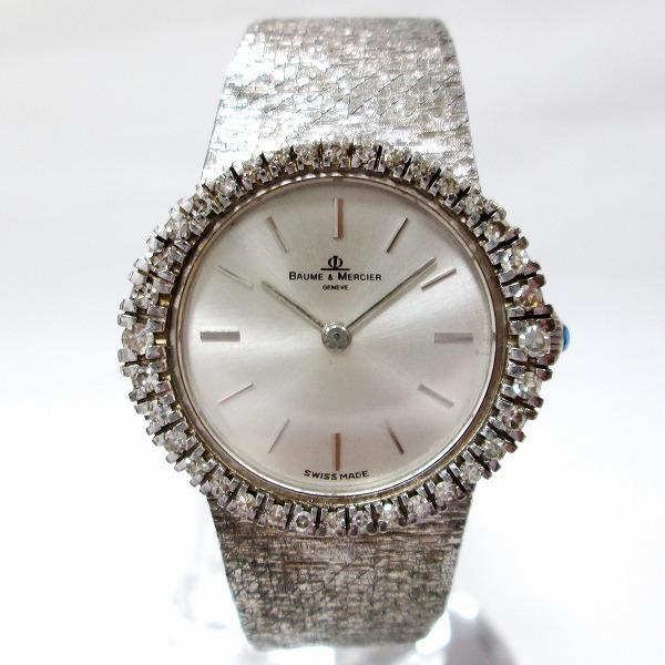 時計 ボーム&メルシエ 18K×シルバー ダイヤベゼル 手巻き レディース 時計 腕時計 ★送料無料★【中古】【あす楽】