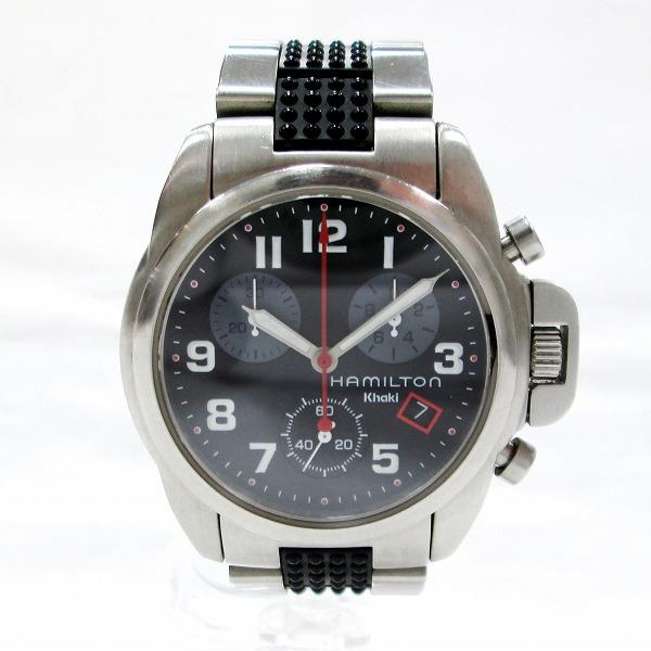 時計 ハミルトン カーキ 6303 ボーイズ クオーツ 黒文字盤 時計 腕時計 ★送料無料★【中古】【あす楽】