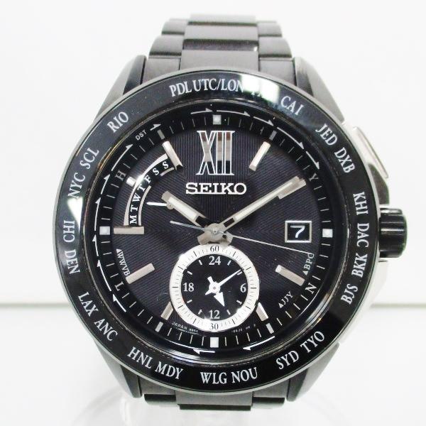 時計 セイコー ブライツ ワールドタイム 電波ソーラー 8B54-0AK0 時計 腕時計 メンズ ★送料無料★【中古】【あす楽】
