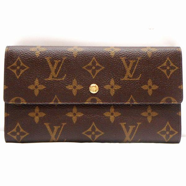 ルイヴィトン Louis Vuitton モノグラム 3つ折り 長財布 M61217 ★送料無料★【中古】【あす楽】