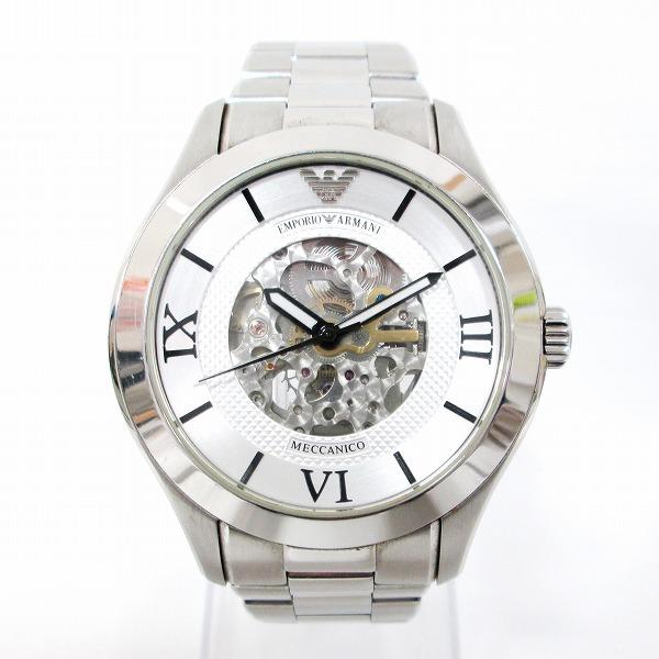 時計 エンポリオアルマーニ AR-4647 メンズ 自動巻 銀文字盤 ★送料無料★【中古】【あす楽】