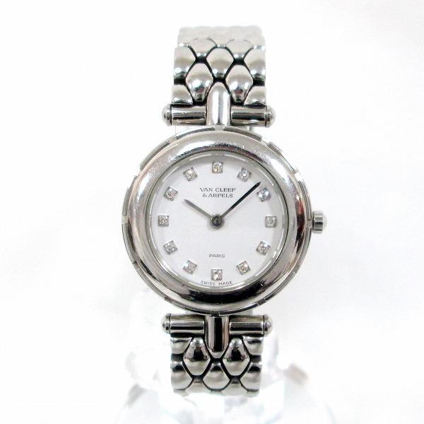 時計 ヴァンクリーフアーペル 53607 クオーツ レディース ホワイト文字盤 ★送料無料★【中古】【あす楽】