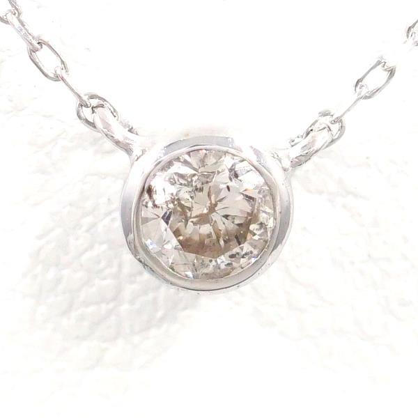 K18 18金 WG ホワイトゴールド ネックレス ダイヤ 0.10 ★送料無料★