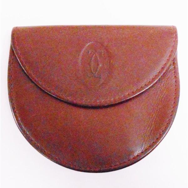 カルティエ Cartier コインケース 小銭入れ マストライン メンズ ボルドー 財布 ★送料無料★【中古】【あす楽】