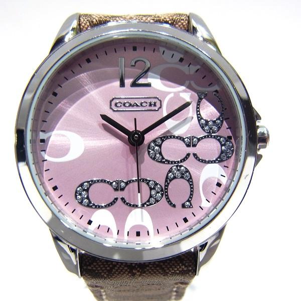 時計 コーチ COACH 時計 レディース腕時計 クラシック シグネチャー ピンク ★送料無料★【中古】【あす楽】