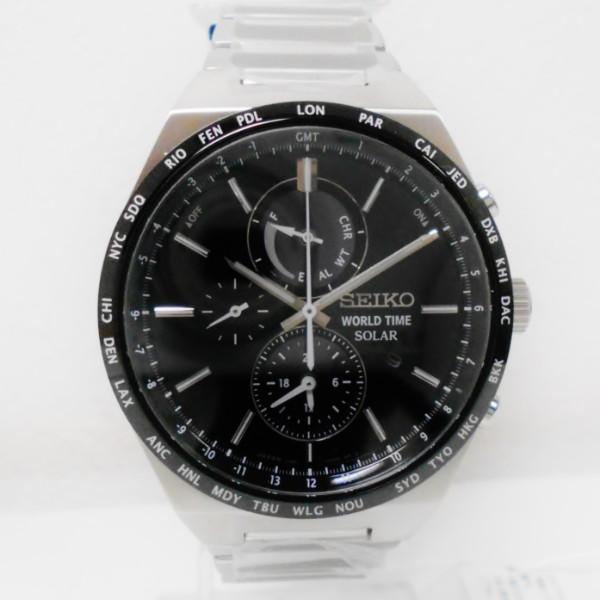 時計 セイコー ワールドタイム ソーラー クロノグラフ V195-0AE0 時計 腕時計 メンズ 未使用 ★送料無料★【中古】【あす楽】