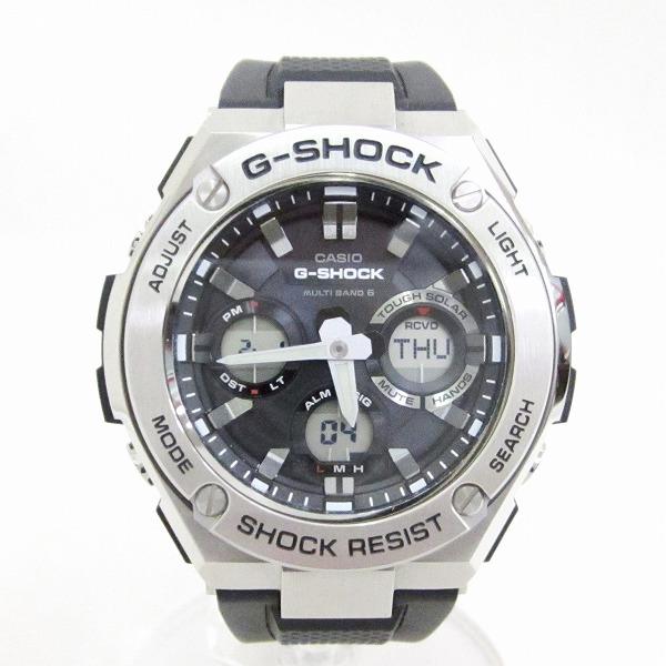 時計 カシオ G-SHOCK GST-W110 時計 腕時計 メンズ 電波ソーラー 黒文字盤 ★送料無料★【中古】【あす楽】
