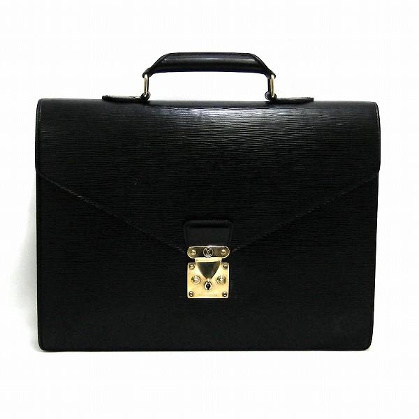 ルイヴィトン Louis Vuitton エピ コンセイエ ブリーフケース M54428 ノワール 黒バッグ ビジネスバッグ メンズ ★送料無料★【中古】【あす楽】