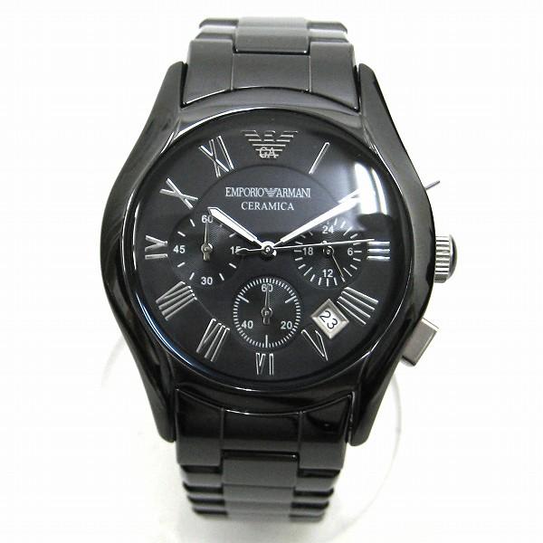 時計 エンポリオ アルマーニ CERAMICA セラミック AR-1400 クォーツ 時計 腕時計 メンズ ブラック ★送料無料★【中古】【あす楽】