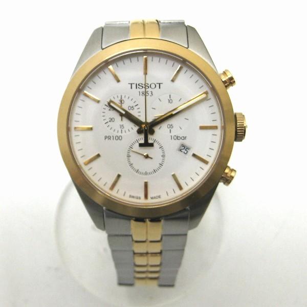 時計 ティソ 1853 PR100 クロノグラフ クォーツ 時計 腕時計 メンズ シルバー×ゴールド ★送料無料★【中古】【あす楽】