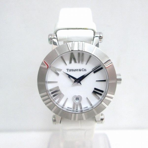 時計 ティファニー アトラス 時計 レディース クオーツ 白文字盤 ★送料無料★【中古】【あす楽】
