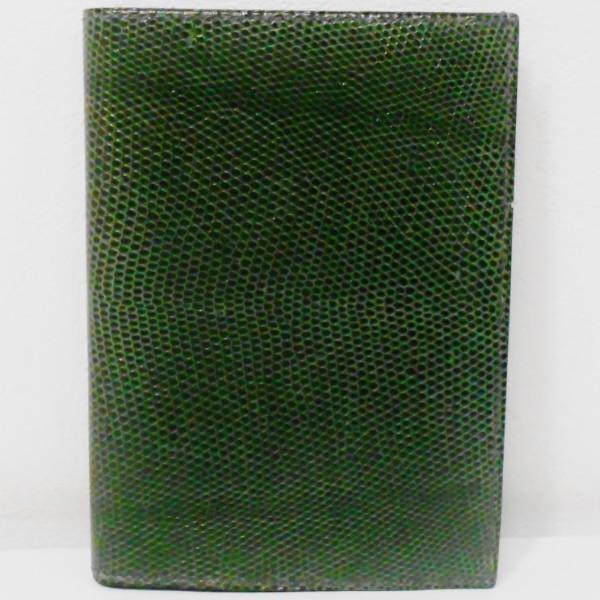 エルメス Hermes リザード □F刻印 財布 札入れ カード入れ グリーン ★送料無料★【中古】【あす楽】
