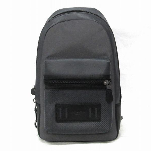 コーチ COACH レザー ブラック F56877 ワンショルダー バッグ リュック メンズ 未使用品 ★送料無料★【中古】【あす楽】