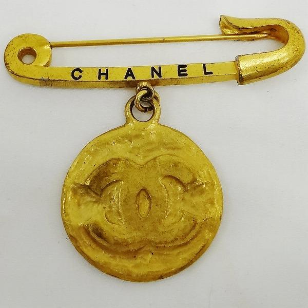 シャネル CHANEL ゴールドカラー CC ブローチ 小物 ★送料無料★【中古】【あす楽】