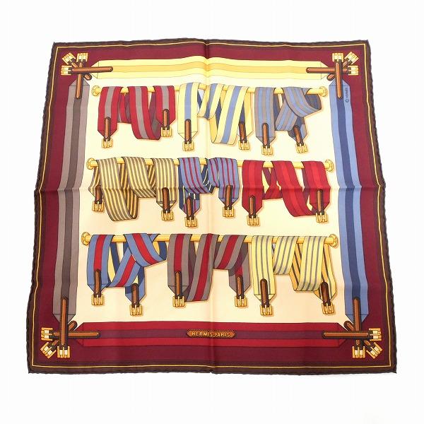 エルメス Hermes プチカレ シルク ベルト柄 ファッション小物 スカーフ ★送料無料★【中古】【あす楽】
