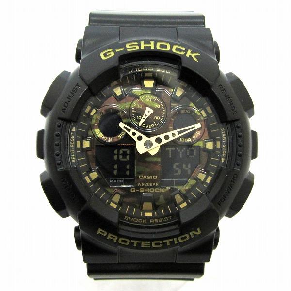 時計 カシオ GーSHOCK カモフラージュ 迷彩 GAー100CF 時計 腕時計 メンズ ★送料無料★【中古】【あす楽】