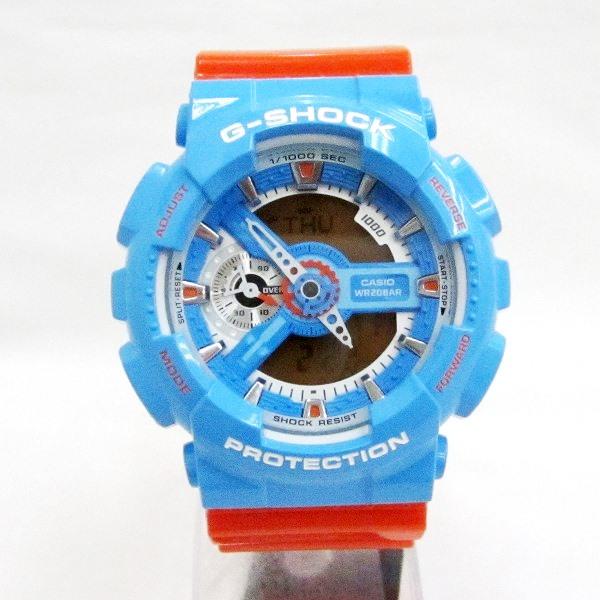 時計 カシオ G-SHOCK GA-110NC クオーツ メンズ オレンジ×ブルー 時計 腕時計 ★送料無料★【中古】【あす楽】