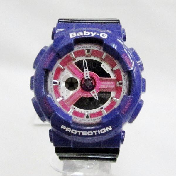 時計 カシオ Baby-G BA-110NC メンズ クオーツ パープル×ピンク×ブラック 時計 腕時計 ★送料無料★【中古】【あす楽】