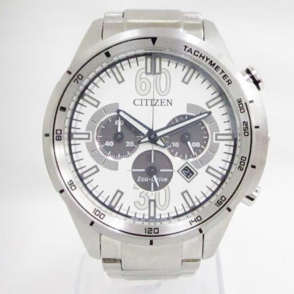 時計 シチズン エコドライブ CA4120-50A メンズ ソーラー 白文字盤 時計 腕時計 ★送料無料★【中古】【あす楽】