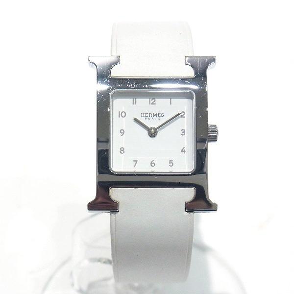 時計 エルメス Hermes Hウォッチ HH1 210 レディース 腕時計 ホワイト 白 文字盤 クォーツ ウォッチ レディース ★送料無料★【中古】【あす楽】