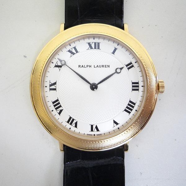 時計 ラルフローレン スリムクラシック 手巻き K18YG ピアジェムーブメント 時計 腕時計 メンズ ★送料無料★【中古】【あす楽】