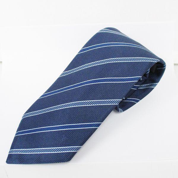ルイヴィトン Louis Vuitton シルク ネクタイ ストライプ ファッション小物 メンズ ★送料無料★【中古】【あす楽】