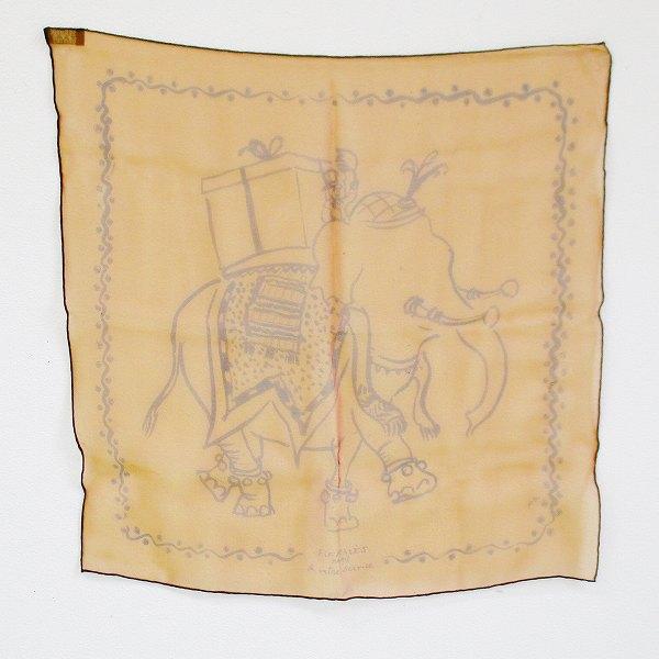 エルメス Hermes プチカレ シフォン スカーフ 象 シルク ファッション小物 レディース ★送料無料★【中古】【あす楽】
