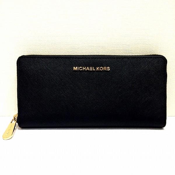 MICHAEL KORS マイケルコース ラウンドファスナー長財布 黒 ★送料無料★【中古】【あす楽】