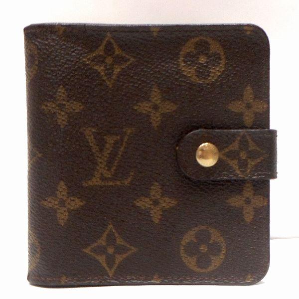 ルイヴィトン Louis Vuitton モノグラム コンパクトジップ M61667 財布 2つ折り ユニセックス ★送料無料★【中古】【あす楽】