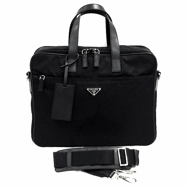 b6cd54eee07b13 Prada PRADA briefcase VA0611 black shoulder bag business bag men ☆ ...