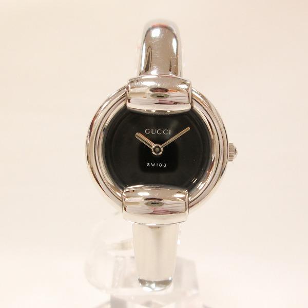 グッチ GUCCI 1400L レディース クオーツ ブラック文字盤 時計 腕時計 ★送料無料★【中古】【あす楽】
