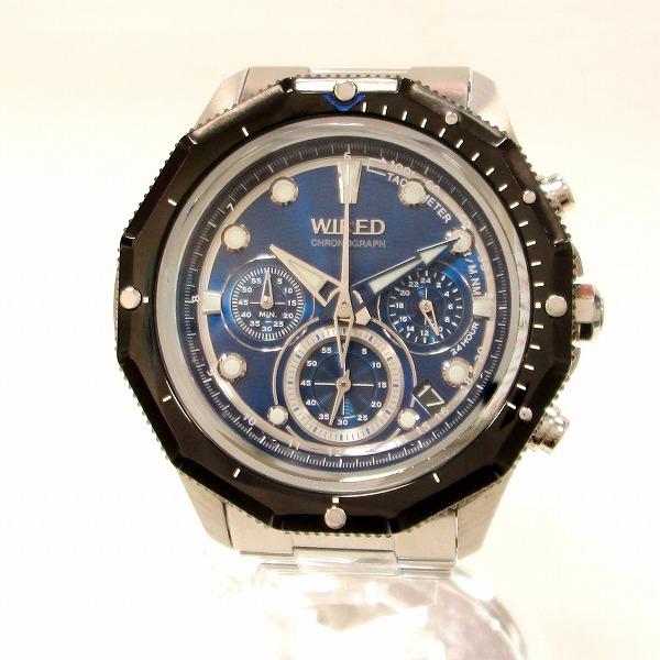 セイコー WIRED VK-63-K080 メンズ クオーツ 青文字盤 時計 腕時計 ★送料無料★【中古】【あす楽】