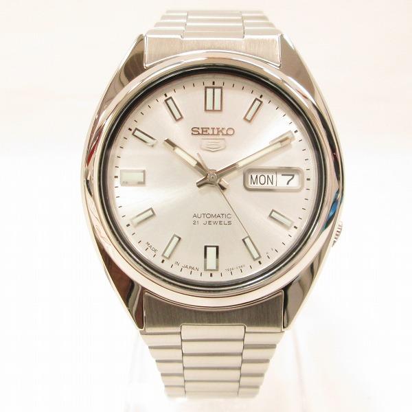 セイコー ファイブ 7S26-0480 メンズ 自動巻き シルバー文字盤 時計 腕時計 ★送料無料★【中古】【あす楽】