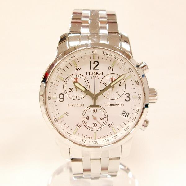 ティソ T461 クロノグラフ メンズ クオーツ ホワイト文字盤 時計 腕時計 ★送料無料★【中古】【あす楽】