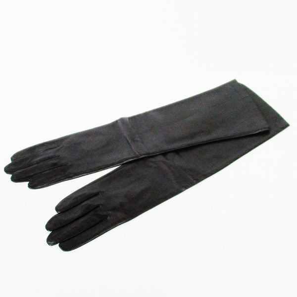 クロエ Chloe ラム レザー 手袋 グローブ ブラック ファッション小物 レディース ★送料無料★【中古】【あす楽】
