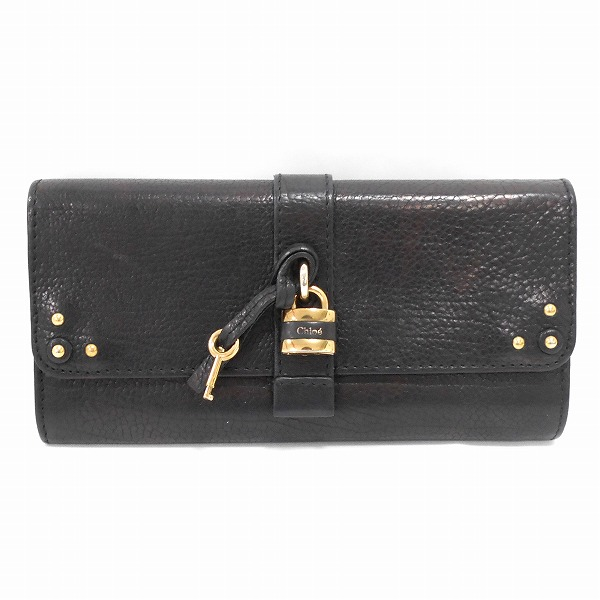 クロエ Chloe 3P0144-751 レザー ブラック 財布 長財布 メンズ ★送料無料★【中古】【あす楽】