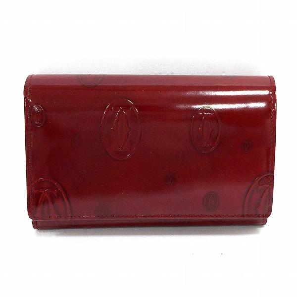 カルティエ Cartier ハッピーバースデー ボルドー 財布 2つ折り レディース ★送料無料★【中古】【あす楽】
