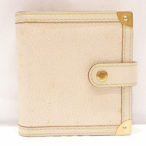 ルイヴィトン Louis Vuitton スハリ コンパクトジップ ブロン M91831 財布 2つ折り ★送料無料★【中古】【あす楽】