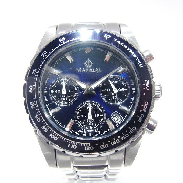 マーシャル 10気圧防水 クロノグラフ 腕時計 メンズウォッチ ブルー MRZ017-MBL ★送料無料★【中古】【あす楽】
