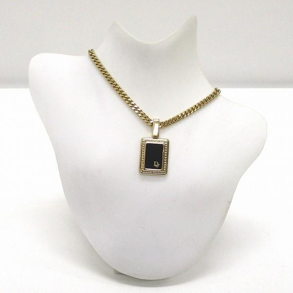 ディオール ネックレス ゴールド×ブラック ファッション小物 レディース ★送料無料★【中古】【あす楽】